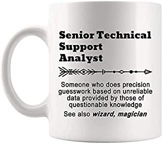 Definition Senior Technical Support Analyst Meaning Mug Present - 11Oz Coffee Cup - Gag Gifts For Men Women T-Shirt Cups Mugs