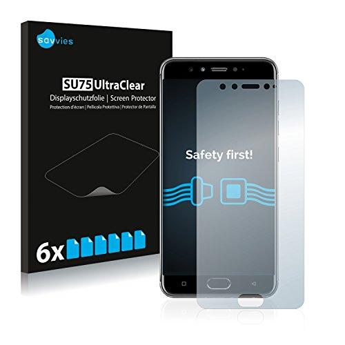 Savvies 6X Schutzfolie kompatibel mit Gionee S10B Bildschirmschutz-Folie Ultra-transparent