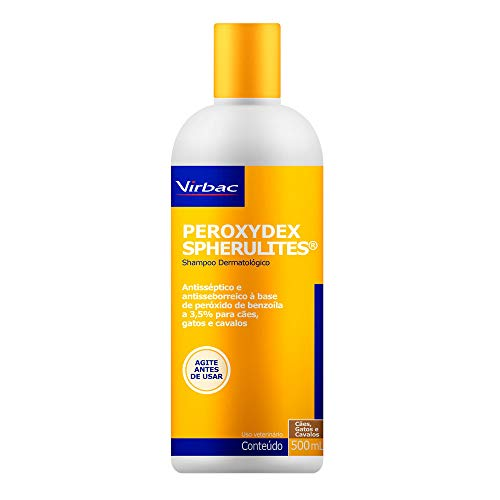 Shampoo Dermatólogico Virbac Peroxydex Spherulites para Cães, Gatos e Cavalos - 500 mL
