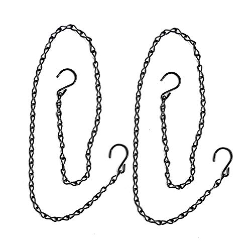 S Hook Steel Hanging Harness Chain for Hanging Poultry Drinker Feeder, Adjustable 40' Long, Tested Hold 30lb Weight