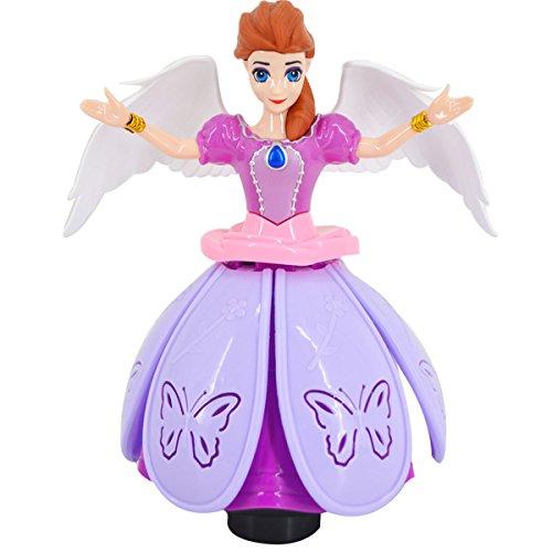 ABBY électrique à 360 degrés de la Princesse de Jouets lumière et Musique de Rotation Universel de Danser Toupie Danseuse Princesse