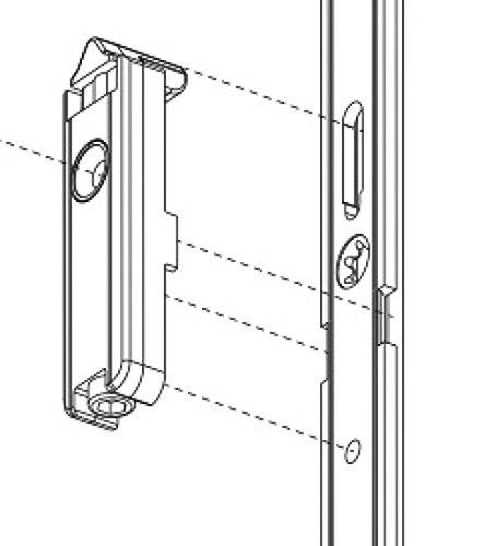 MACO MM Türschnapper für Holz/PVC, Silber (201168), verzinkt