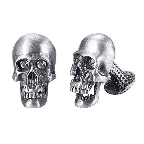 EVBEA Manschettenknöpfe für Männer Cool Stilvolle Einzigartiges Pirat Skull Totenkopf Manschettenknöpfe Set (Style Five)