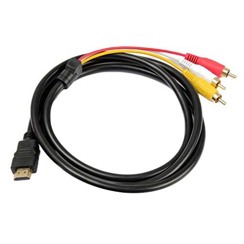 Cable Adaptador Hdmi RCA Componentes RGB Television TV PS3 Euroconector Conector