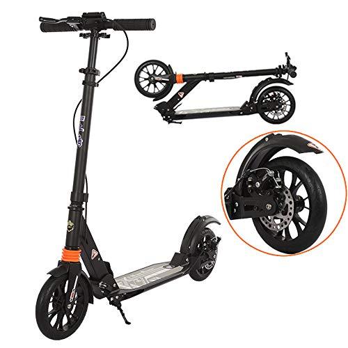 ZCM-Scooter Erwachsene Roller gefaltet, mit großen Rädern, Doppelte Stoßdämpfung, Scheibenbremse, Unterstützung £ 330 Gewicht, geeignet für Jugendliche und Kinder über 8 Jahre alt.(Nicht elektrisch)