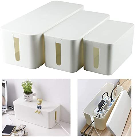 YaeCCC Cable Management Organizer Box Power Strips Hider Power Cords Hider for Desk TV Computer product image