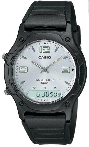 CASIO Collection AW-49HE-7AVEF - Reloj Unisex de Cuarzo, Correa de Resina Color Negro (con cronómetro, Alarma)