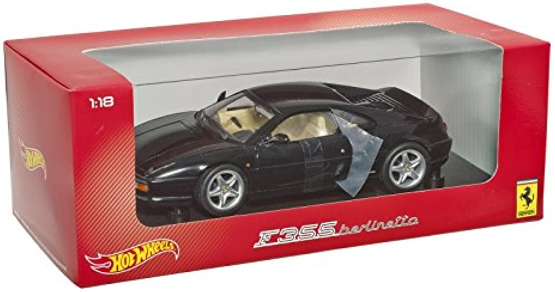 calienteruedas (Mattel) - Bly58 - Pronti per Veicoli - modellolo per la Scala - Berlinetta Ferrari F355 - Nero - Scala 1 18