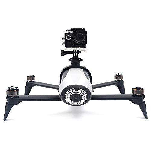 CHENJUAN for Gopro & Osmo Action & Panoramic Camera Holder Mounts Extend Arm Sky Video Body Extended Bracket for Parrot Bebop 2 Drone Spare Parts (Color : Black)