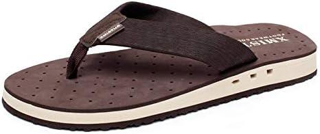 Duckmole Mens Flip Flops Comfortable Sandals Beach Thong Slides with Arch Support