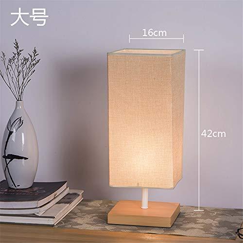 YU-K Simple et élégant couvre tissu woodwork bureau moderne salon chambre à coucher lampe de chevet à intensité réglable lampes de table, couleur du bois ,16*42cm, l'éphèdre de la lampe, l'atténuateur