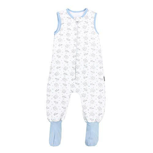 TupTam Baby Winter Schlafsack mit Beinen und Füßen, Farbe: Eulen / Sweet Dreams, Größe: 80-86