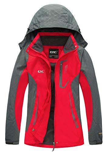 Diamond Candy Womens Rain Jacket Waterproof with Hood Lightweight Hiking Ski Jacket