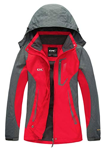 Diamond Candy Womens Rain Jacket Waterproof with Hood Lightweight Hiking Ski Jacket