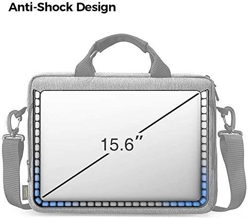 tomtoc Laptop Umhängetasche Schultertasche für 16/15 MacBook Pro, 15 Surface Book 2/3, Dell XPS 15, HP 15/15,6 Zoll Lenovo ThinkPad E595 / IdeaPad S510, Chromebook Aktentasche Laptoptasche, Grau