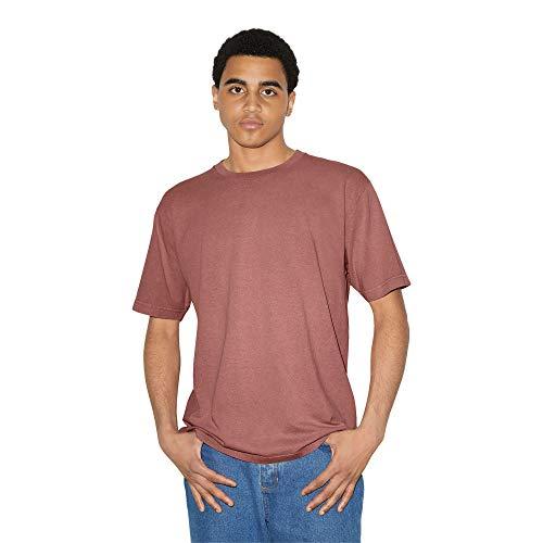 American Apparel Men's Heavy Jersey Box Short Sleeve T-Shirt, Faded Dusty Rose, Large