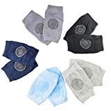 Baby Knee Pads for Crawling, 5 Pairs Unisex Babies Toddler Anti-Slip Baby Knee Protectors Toddlers Leg Warmers for 0-24 Months