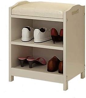 JJZXT Chaussures Cabinet Rack, Rack Chaussures avec Chaussures Blanches Chic Closet Creux Bois Plaque de Rangement en Plas...