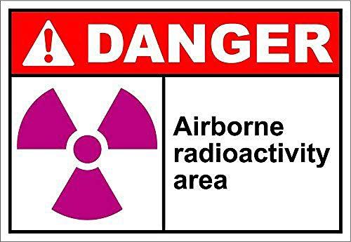 WAHAH Airborne Radioactivity Area Danger Cartel De Chapa Metal Novedad Retro Decorativo - Bar Oficina Hogar Dormitorio Comedor Cocina Fresco Clásico Elegante Presente