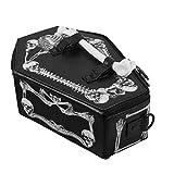 VALICLUD ハロウィンショルダーバッグスカルバットプリントクロスボディバッグ棺型メッセンジャーバッグ