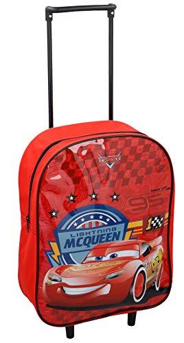 Disney Kids Pull Along Wheeled Trolley Holiday Travel Bag Luggage (Cars)