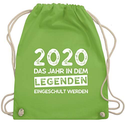 Shirtracer Einschulung und Schulanfang - 2020 Das Jahr in dem Legenden eingeschult werden - Unisize - Hellgrün - schulkind 2019 - WM110 - Turnbeutel und Stoffbeutel aus Baumwolle