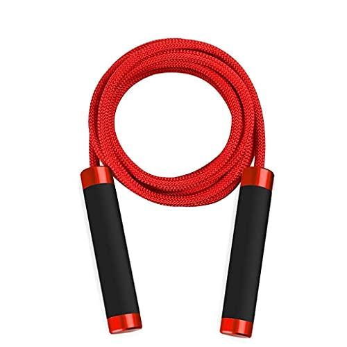 YLLAND Cuerda antideslizante para saltar la cuerda ajustable sin enredos de velocidad, es adecuada para regalos de fitness y ejercicio, LNNDE (color: rojo)