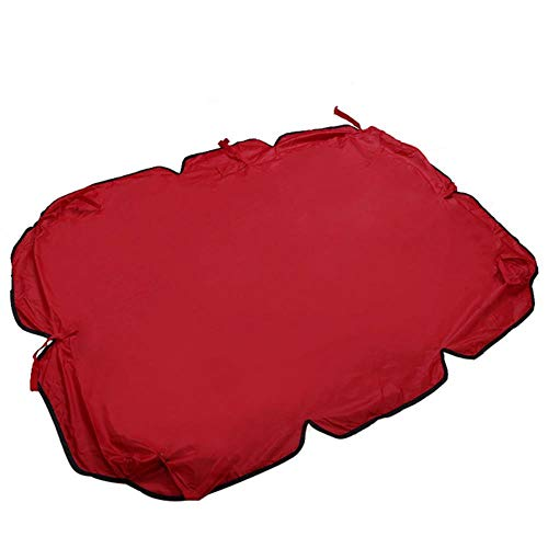 Viner 1Pc Buitenterras Swing Luifel Zitting Top Cover Tuin Seater Maat Tent Swing Top Cover Vervanging, Rood