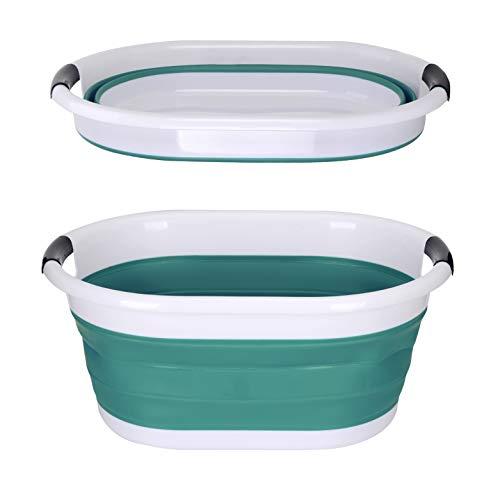 yoouu Wäschekorb Faltbar - Klappbarer & Wasserdichter XXL Premium Waschkorb - bis 9 kg Wäsche - GRÜN