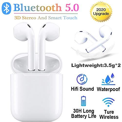 Auricolare Bluetooth Senza Fili, 24h Playtime 3D stereo HD Cuffie Wireless, Binaurale Call auto Pairing,IPX7 Impermeabile,Adatto Compatibile con iPhon