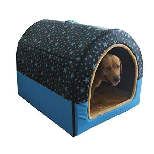 PYROJEWEL fácil de Limpiar Perrera Grande Perro de la jerarquía Medio Perro de Mascota, Gato de casa for Perro Cama del Perro de Interior Lavable Casa de Mascotas cálida y Suave (Color : XXL)