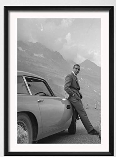 WZGJZ Canvas Print Sean Connery 007 Movie Wall Art Pictures Living Room Home Decor Kw585Zk 40X60Cm Frameless