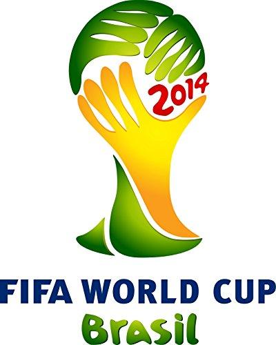 StickersNews Adesivo Calcio Logo FIFA Coppa del Mondo Brasile, 95x95cm