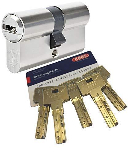 ABUS Bravus.2000 Sicherheits - Doppelzylinder mit 5 Schlüssel, Länge 45/45mm mit Sicherungskarte und höchstem Kopierschutz, Zusatzausstattung: Not- u. Gefahrenfunktion