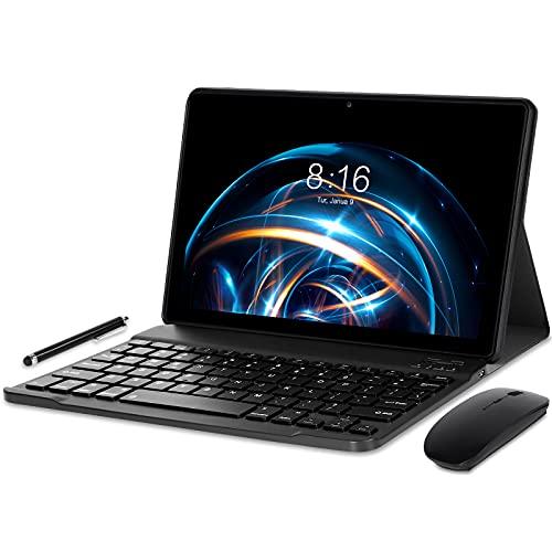 Tablet 10 pollici Android 10.0 - YUMKEM Tablet 4GB RAM 64GB ROM 1.6 GHz | WiFi | Bluetooth | GPS | Tastiera Bluetooth | mouse senza fili |, Grigio