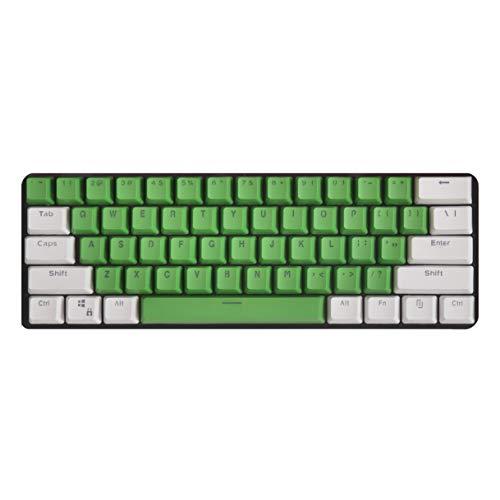 tastiera meccanica verde Tomuku PBT Gaming Keycaps