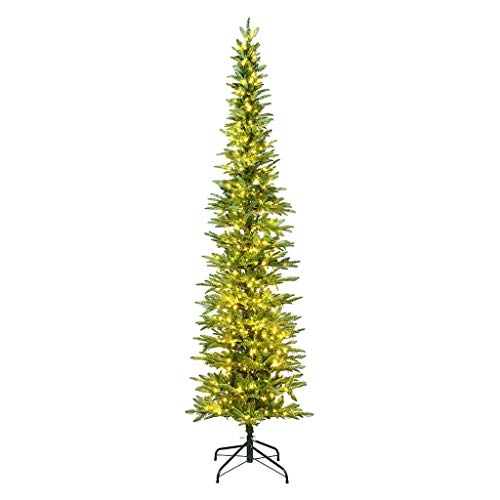 Vickerman Compton Pole Pine Christmas Tree, 7.5', Green