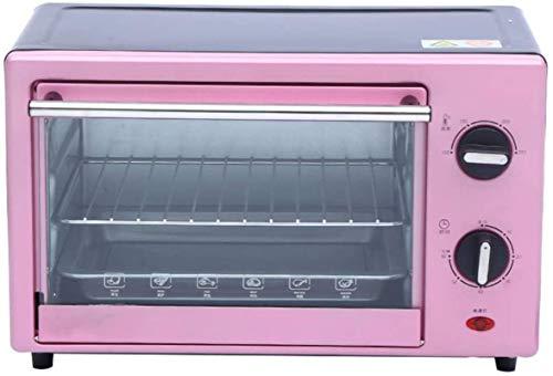 Pequeño horno eléctrico, Temporizador 60min - 1400W, Funciones de cocción múltiple y parrilla, control de temperatura ajustable 0-250 ℃ 16L Mini horno eléctrico con placa de cocina