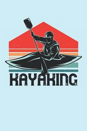 Kayaking: Kayak River Paddling Vintage Kayak Piragüista Regalos Cuaderno de cuadrícula de puntos (formato A5, 15, 24 x 22, 86 cm, 120 páginas)