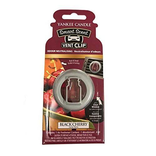 Yankee Candle 1525132E Deodoranti per Auto, Smart Scent Vent Clip, Black Cherry