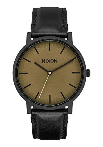 Nixon Unisex Erwachsene Analog Quarz Uhr mit Leder Armband A10582988-00
