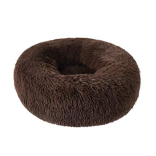 Suave Peluche Super Suave Bed Bed Kennel Redondo Bolsa de dormir Lazy Cat House Cálido Invierno Sofá Cesta Pequeño Perro Medio Medio Para cachorros y gatitos ( Color : P , Size : XXL Diameter 100cm )