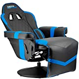Turismo Racing Stanza Gaming Recliner - Ultimate Reclining Chair for Playstation 5 and Xbox Gaming - Blue