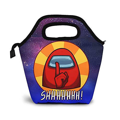 Among Us Lunch Bag Fashion Classic Reusable Lunch Bag for Boys/Girls/Adults/Kids/Teens/Student