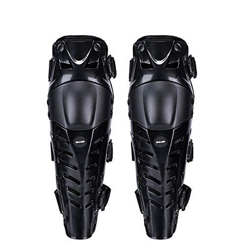 VOMI Rodilleras Hombre, Protector Rodilla Moto Respirable Flexible Protección de Rodilla Espinillera Adultos para Motocross MTB Enduro Motocicleta BMX Ciclismo Bicicleta Monopatín Offroad,Negro
