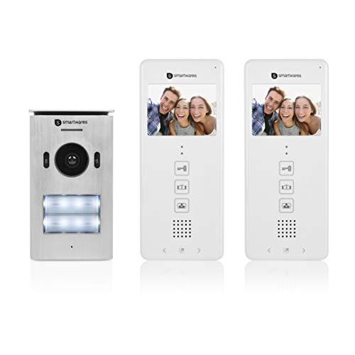 Smartwares Video-Türgegensprechanlage - für 2 Wohneinheiten,...