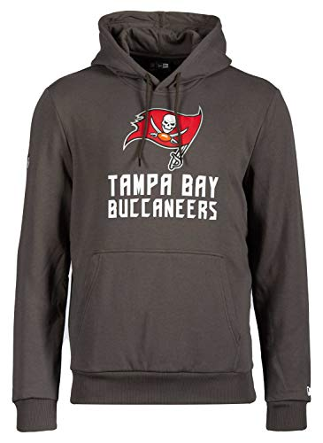 New Era - NFL Tampa Bay Buccaneers Team Logo and Name Hoodie - Dunkelgrau Farbe Dunkelgrau, Größe XL