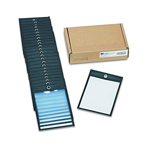Oxford 64204 Poly Shop Ticket Holders, Clear Front and Back, 4 x6 Insert Size, 25 per Box