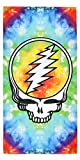 Earth Ragz Grateful Dead Steal Your Face Rainbow Tie Dye Banner...
