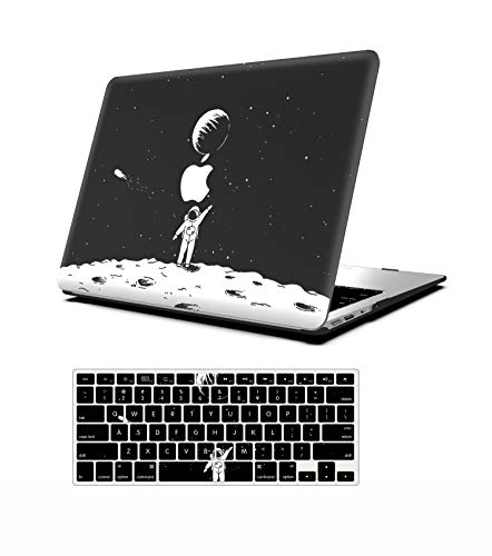 AOGGY MacBook Pro 16 inch Case 2019 2020 Release A2141,Plastic Hard Shell Protective Shell,with Keyboard Cover,for 2019 Version MacBook Pro 16 inch, with Touch Bar and Touch ID - Space Astronaut